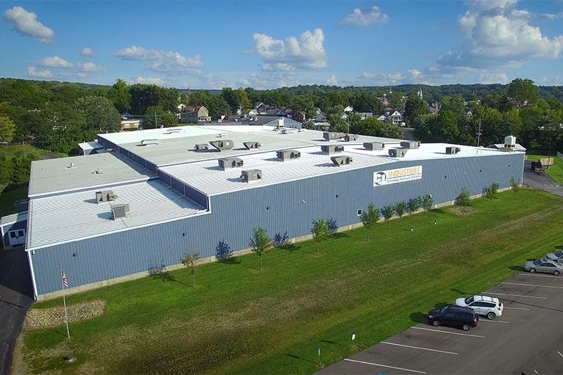 aerial shot of C&J industries