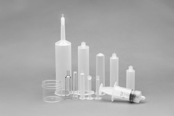 White and clear medical supply objects from C&J